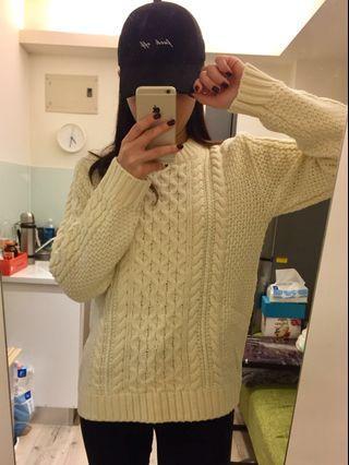 🚚 麻花針織毛衣全新 原價$1490 便宜$80!!(米白)