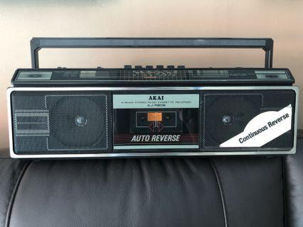 Vintage radio cassette player