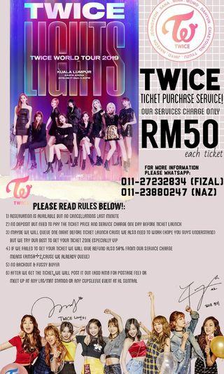 TWICELIGHTS IN KL TICKET SERVICE