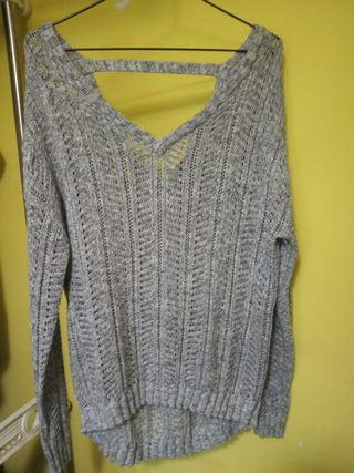 Cotton On Open Back Grey Knit Sweater