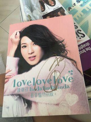 鐘嘉欣 親筆簽名 love love love 最幸福特別版 CD+DVD
