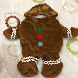 Pet Christmas gingerbread costume