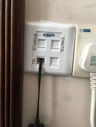 Data Point / Tel With Fibre TV Point