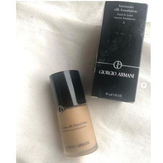 Giorgio Armani Luminous Silk Foundation shade 6