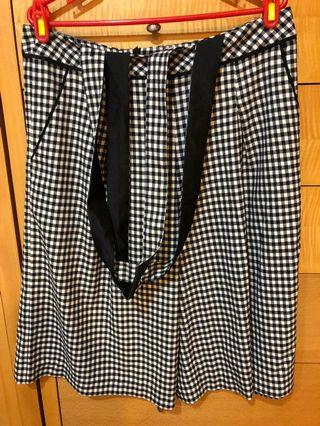 全新設計師Jeoujin 格子吊帶褲裙46*62*74平量 公分牌價7980正品買的