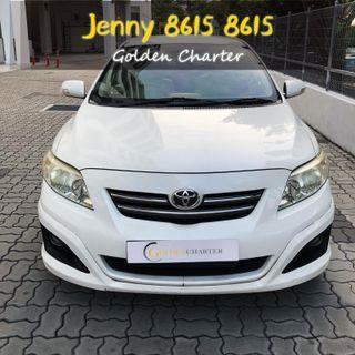 Toyota altis 1.6a renting cheaper promotion grab prersonal n gojek
