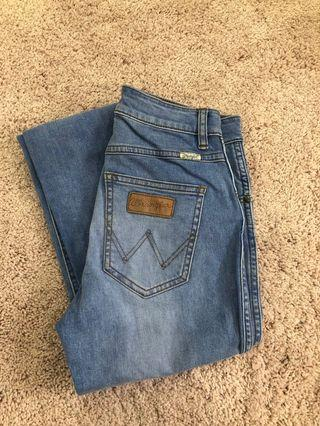 WRANGLER MID PINS BLUE JEANS 7