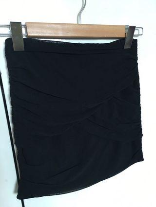 Black low waist skirt