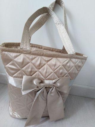 Naraya satin fabric tote bag