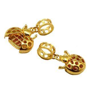 916 Gold Money Ladybug Abacus Pendant