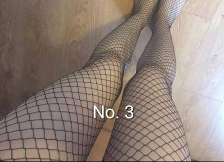 Fishnet atau stocking jala hitam nomer 3 (medium large)