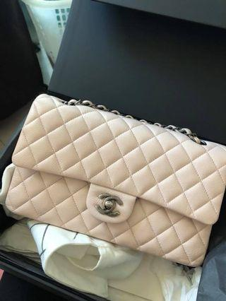 Chanel classic medium double flap pink 粉紅