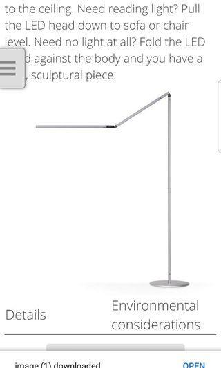 🚚 Koncept AR5000 floor lamp with sensor. Led light automatic turn on motion sensor.