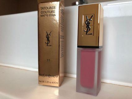 🚚 YSL Tatouage Couture matte lipstain liquid lipstick BRAND NEW 11 Rose illicite