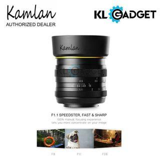 Kamlan 50mm F1.1 APS-C Manual Focus Lens For Sony E mount