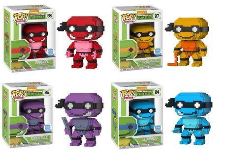 Pre-order Funko Exclusive Ninja Turtles 8-bit funko pop