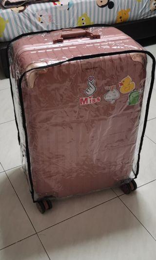28 inch rose pink luggage