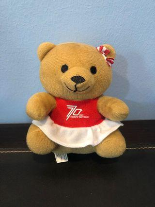 Stuffed toy Bear Singapore Airline