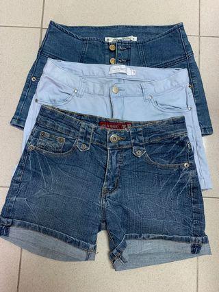 🚚 3条女式短裤