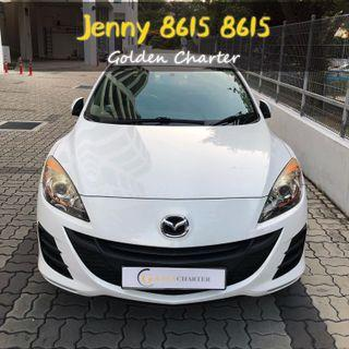 Mazda 3 1.6a rent cheaper car for gojek.grab n personal use.PHV rental cars with cheap rental.promotion