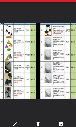 ceiling dining or pendant light price for hari raya