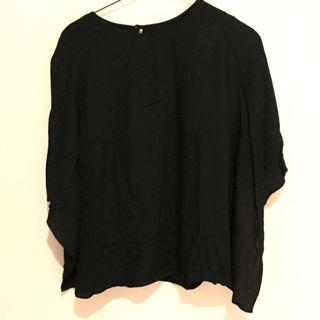 Black Batwing Blouse