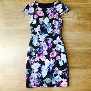 Forever new floral bodycon tania dress cap sleeve