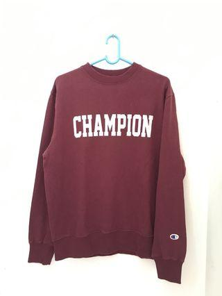 Champion Sweater Signature Maroon Original New
