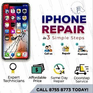 Our team cover up island wide for iPhone repair service!