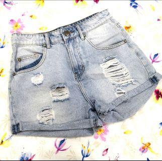 Cotton On Denim High Rise Short Pant