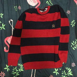 Tommy Hilfiger navy and red striped pullover