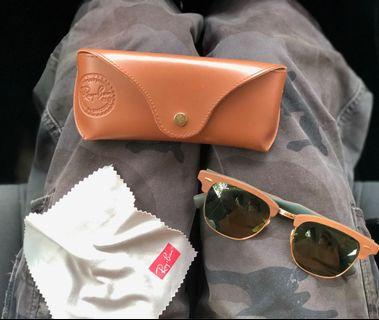 RAYBAN CLUBMASTER WOODEN FRAME