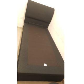 Single Bed frame with hydraulic storage 204 x 94cm