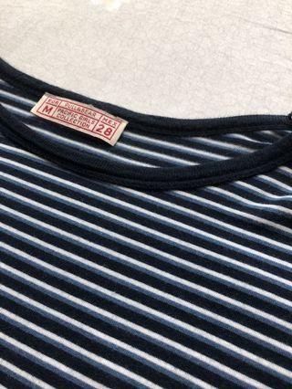 pull and bear blue ringer striped top
