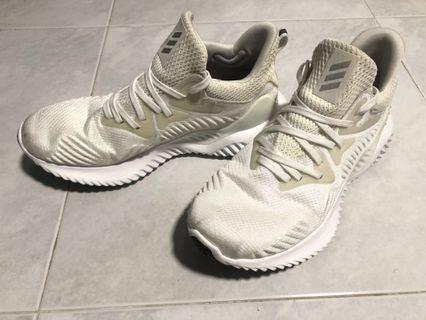Authentic Adidas Alphabounce Beyond White Trainers - No Box