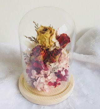 EMBRACE || Mothers' Day Specials - Eternal Blooms Bell Jar | Roses Hydrangeas Preserved | For Mum | Birthday | Anniversary | Graduation | Congrats | Proposal