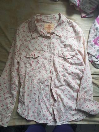 levis rodeo floral shirt