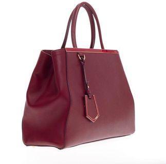 Fendi 2 Jours Medium Red Bag AUTHENTIC
