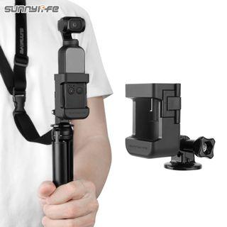 SUNNYLIFE Updated Accessory Mount Adapter + Lanyard for DJI OSMO POCKET