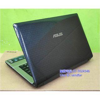 全新電池 天M模擬器多開 ASUS K43S i7-2670QM 8G 500G 獨顯 DVD 14吋筆電 聖發二手筆電