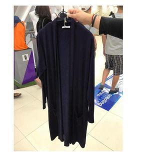 泰國-大尺碼長外套深藍$490
