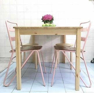 RETRO Pink Metal Chair