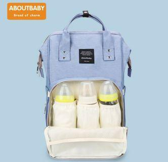 ABOUTBABY Diaper Milk Bottles Nappy Bag