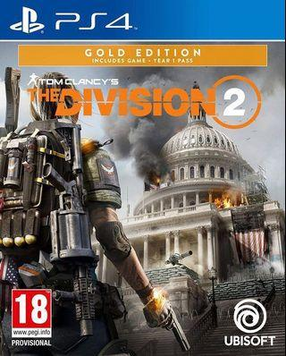 🚚 PS4 - The Division 2 - Gold Edition - BRAND NEW