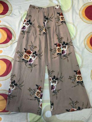 Fiori floral slit pants
