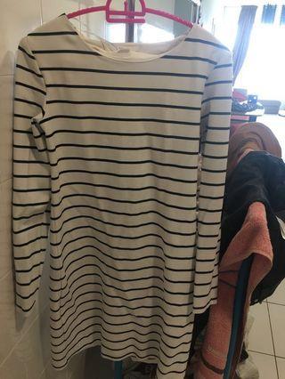 H&M basics striped