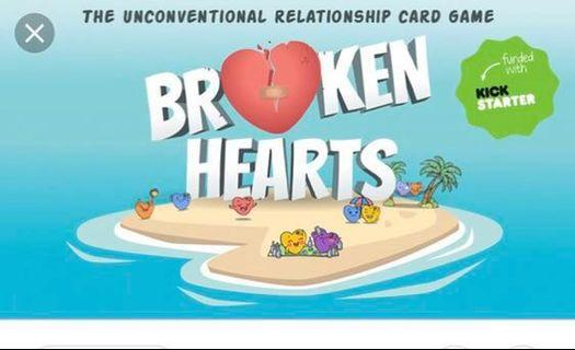 🚚 Broken Hearts Card Game with feee card sleeves