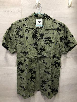 18SS MADNESS ALOHA SHIRT Green 短袖襯衫 恤衫