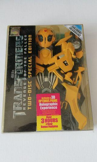 Transformers dvd limited edition bumblebee
