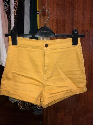 Forever 21 Mustard Yellow Shorts